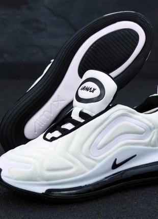 Кроссовки nike air max 720 white/white/black