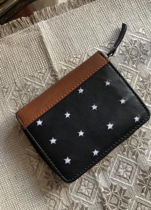 Компактный кожаный кошелёк кошелёчек натуральная кожа,