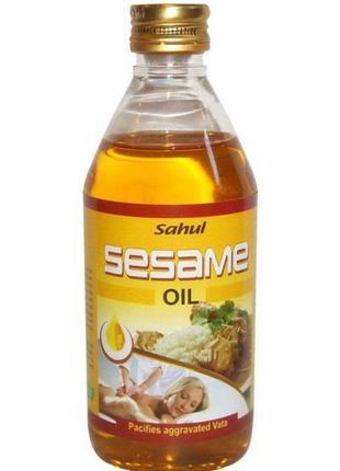 Ayusri sesame oil кунжутное масло для массажа тела и лица увлажняющее натуральное