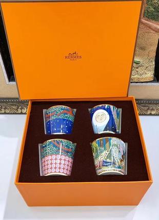 Эксклюзивный набор чашек hermès