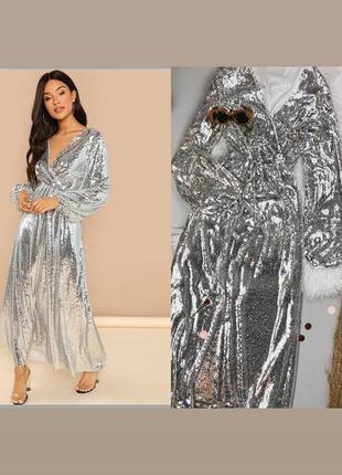 Платье в паетки от boohoo