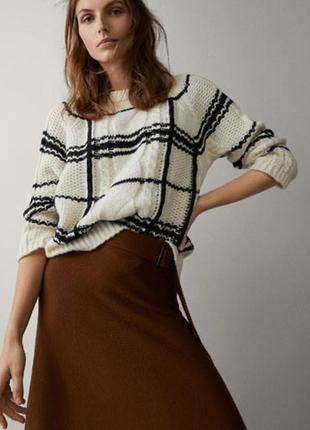 Потрясающе стильный клетчатый свитер. оригинал massimo dutti
