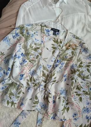 Легкая блуза - накидка в нежные цветы 🌼💮🌸