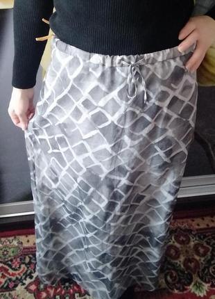 Женский юбка длина спідниця сірий розмір-36-38