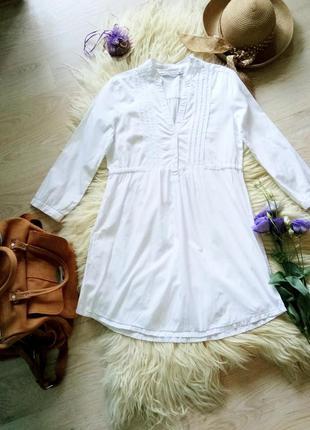 Белоснежное платье туника от cotton club