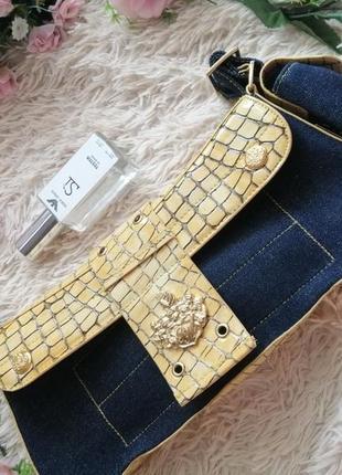 Сумка клатч. кросс боди. джинсовая сумка. рептилия, коробка широкий ремешок8 фото