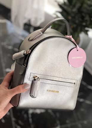 Coccinelle рюкзак серебряный
