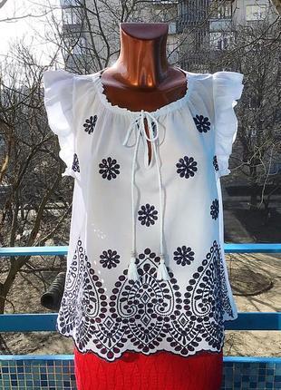 Летняя блуза с вышивкой от today