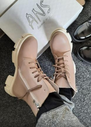 Кожаные ботинки демисезонные тренд 2021