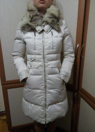 Зимнее пальто мехом
