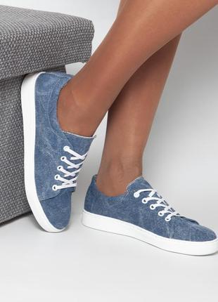 Натуральные текстильные джинсовые кеды в наличии!