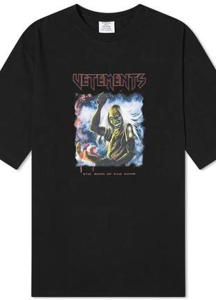 Фуболка черная vetements  | футболка vetemens | футболка ветеменс
