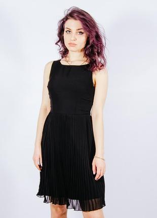 Черное платье миди, чорна сукня міді