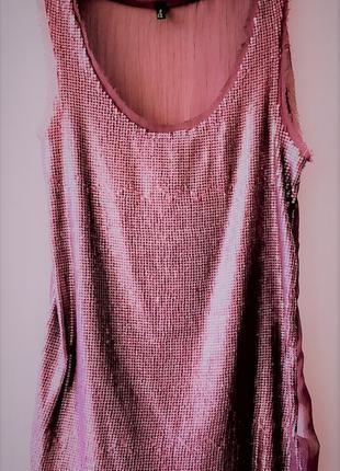 Модна майка-блуза з паєтками