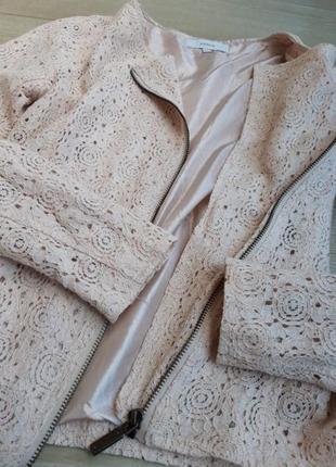 Женский ажурный жакет , кружевной пиджак косуха