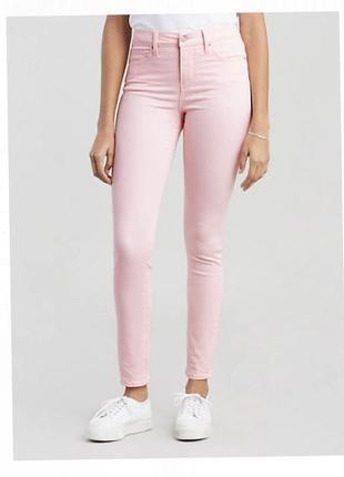 Джинсы штаны розовые