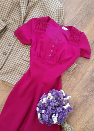 Гламурна сукня ярко малинового кольору🍀