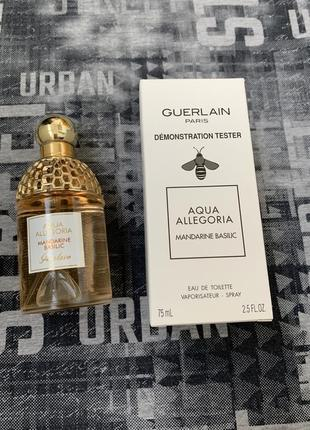 Guerlain aqua allegoria mandarine basilic tester 75 ml.