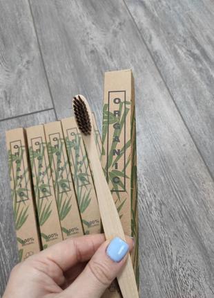 Зубная щетка, эко зубная щетка из натурального переработанного бамбука organic