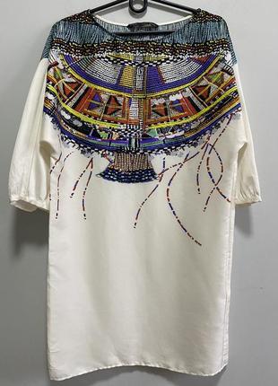 Zara платье туника xs 34