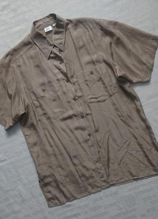 Классная шелковая блуза/тонкая летняя рубашка charles vogele
