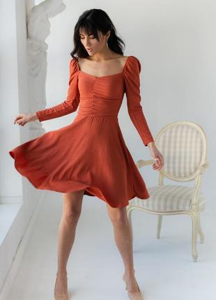 Плаття міні теракотове