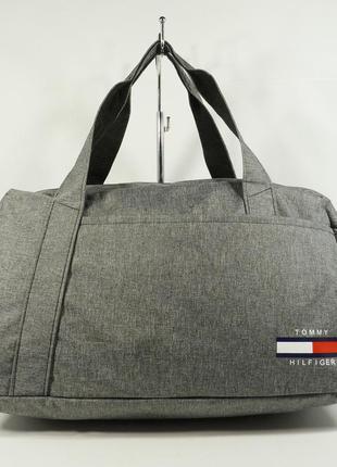Cпортивная, дорожная сумка tommy  1220-2 серая