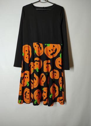 Платье с тыквами на хэллоуин  halloween