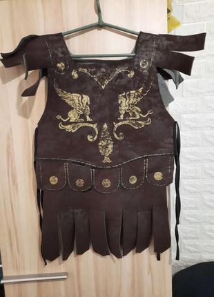 Карнавальный элемент костюма рыцаря, кольчуга, броня