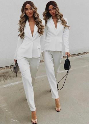 Обалденный костюм двойка белого цвета от oh polly!