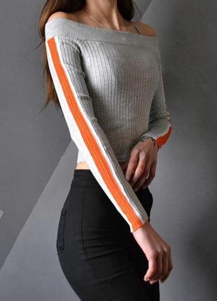 Стильный пуловер в рубчик h&m m