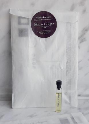 Ниша одеколон atelier cologne vanille insensee