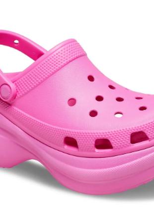Женские кроксы сабо  women's  crocs classic bae clog electric pink