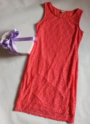 Яркое платье с подкладкой