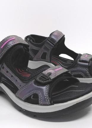 Стильные кожаные удобные сандалии босоножки ecco оригинал