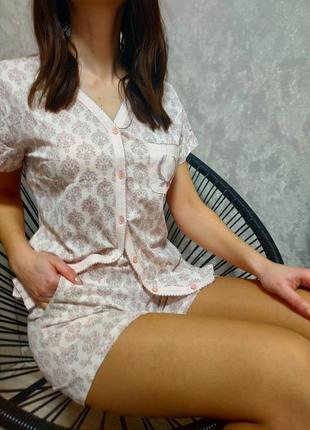 Стильная женская коттоновая пижама