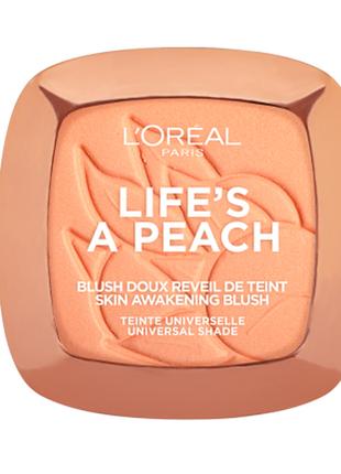Румяна компактные l'oreal paris life's a peach