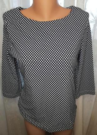 Блуза в мелкий горошек