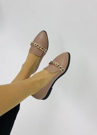 Аккуратные туфельки с цепью
