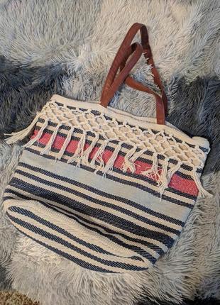 Сумка сумочка пляж большая плетеная