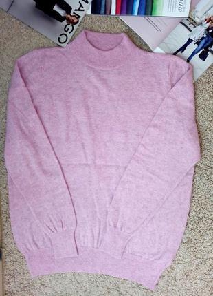M&s 100% шерсть джемпер/ свитер/гольф актуального розового цвета