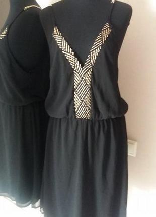 Очено красивое платье сарафан шифон danity paris раз.38-40