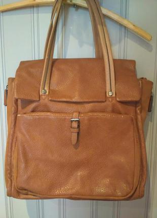 Коричневая сумка из экокожи