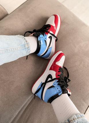 Женские кросовки  nikr air jordan 1 hight blue red