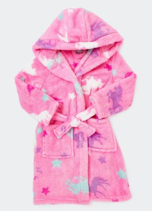 Классный пушистый халат от dunnes stores на 18-23мес,3-4года из англии