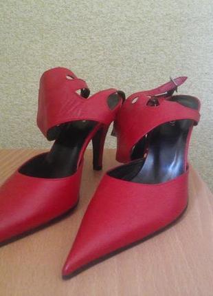 Туфли босоножки bianco с острым носком,натуральная кожа