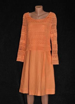 Яркое, очаровательное платье хлопок/ лен. цена выходного дня!