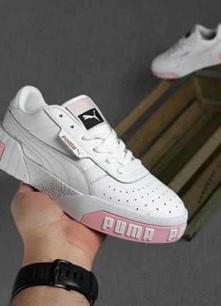 Pуma cali белые с розовым