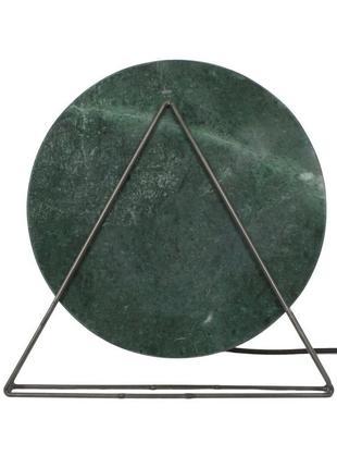 Настільна лампа мармуровий диск carmie (кармі) зелена