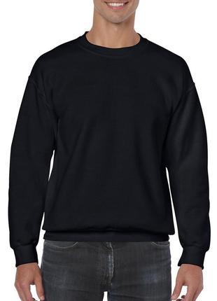 Мужской свитшот gildan heavy blend чёрный